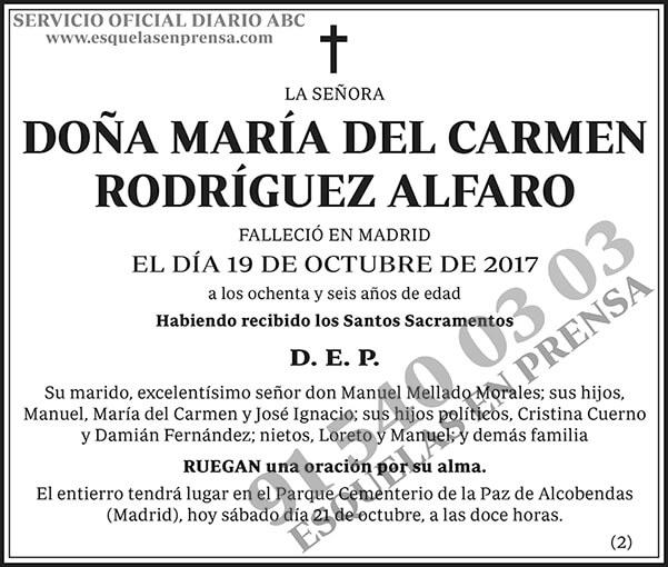 María del Carmen Rodríguez Alfaro
